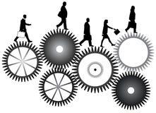 Business people. Illustration of business people, black Stock Image