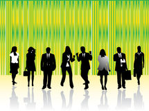 Business people. Illustration of business people, green Royalty Free Stock Photography