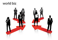 Business people. Illustration of business people... world biz Stock Images