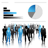 Business people. Illustration of business people and graph vector illustration