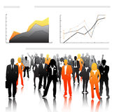 Business people. Illustration of business people and graph royalty free illustration