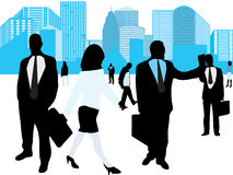 Business people. Vector illustration of business people Royalty Free Stock Photo
