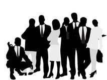 Business people. Vector illustration of business people Stock Image
