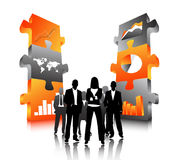 Business people. Illustration of business people... world biz Royalty Free Stock Images