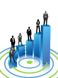 Business people. Illustration of business people on graph Stock Photos