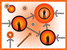 Business people. Illustration of business people, orange Royalty Free Stock Image