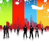 Business people. Illustration of business people... world biz Stock Image