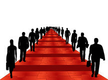 Business people. Illustration of business people, red Stock Images