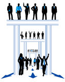 Business people. Illustration of business people, blue Royalty Free Stock Image