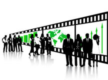 Business people. Illustration of business people and film Stock Images