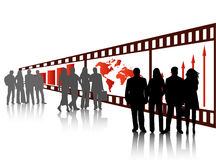 Business people. Illustration of business people and film Stock Photo