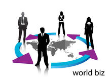 Business people. Illustration of business people..... world biz Royalty Free Stock Images