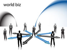 Business people. Illustration of business people... world biz Stock Photography