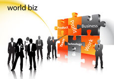 Business people. Illustration of business people... world biz Royalty Free Stock Photo