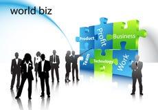 Business people. Illustration of business people... world biz royalty free illustration