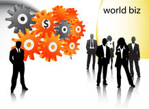 Business people. Illustration of business people..... world biz Stock Photo