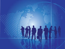 Business people. Team of business people with global background Royalty Free Stock Photography
