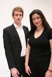 Business People. Image of a man and woman in casual corporate dress stock photography