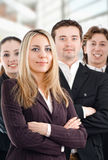 Business people. Team of successful smiling young business people Royalty Free Stock Photo