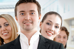 Business people. Team of successful smiling young business people Royalty Free Stock Images
