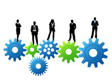 Business people. Vector illustration of business people on the gears vector illustration
