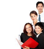 Business people. Happy business people . Isolated over white background Royalty Free Stock Photos