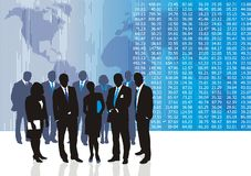 Business people. Vector illustration of business people and entrepreneurs Stock Photos