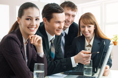Business people. Team of successful smiling young business people royalty free stock photography