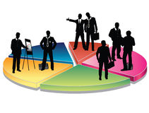 Business people. On the diagram (concept vector Stock Photo