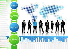 Business people. Vector illustration of business team. Concept of world biz Royalty Free Stock Images