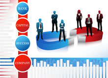 Business people. Vector illustration of business people.... concept of business team Royalty Free Stock Photography