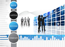 Business people. Vector illustration of business people.... concept of business team Royalty Free Stock Photos