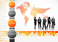 Business people. Vector illustration of business team Royalty Free Stock Images