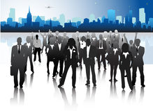 Business people. Vector illustration of business people in the city Royalty Free Stock Images