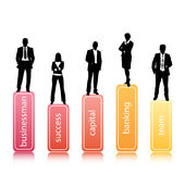 Business people. Vector illustration of business team Stock Photos
