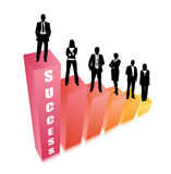 Business people. Vector illustration of business people on the grapg Stock Photo