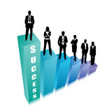 Business people. Vector illustration of business people on the graph Stock Images