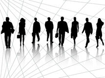 Business people and abstract Stock Image