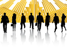 Business people and abstract Royalty Free Stock Photo