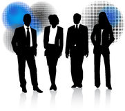 Business people and abstract Royalty Free Stock Photography