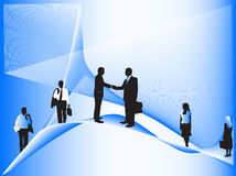 Business people and abstract shapes. Illustration of business people and abstract shapes Stock Image