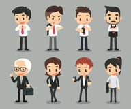 Business people in actions. Royalty Free Stock Photo