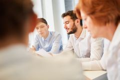 Business people in advice meeting Stock Photo