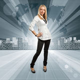 Business People against Conceptual Background Stock Images