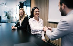 Business people agreement during board meeting Stock Photography