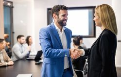 Business people agreement during board meeting Royalty Free Stock Image