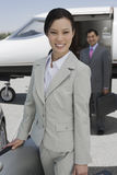 Business People At Airfield Royalty Free Stock Photos