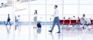 Business People in the Airport Stock Images