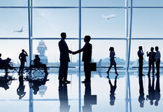 Business People in the Airport Stock Image