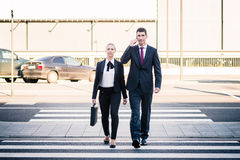 Business people at airport terminal travelling Royalty Free Stock Photo